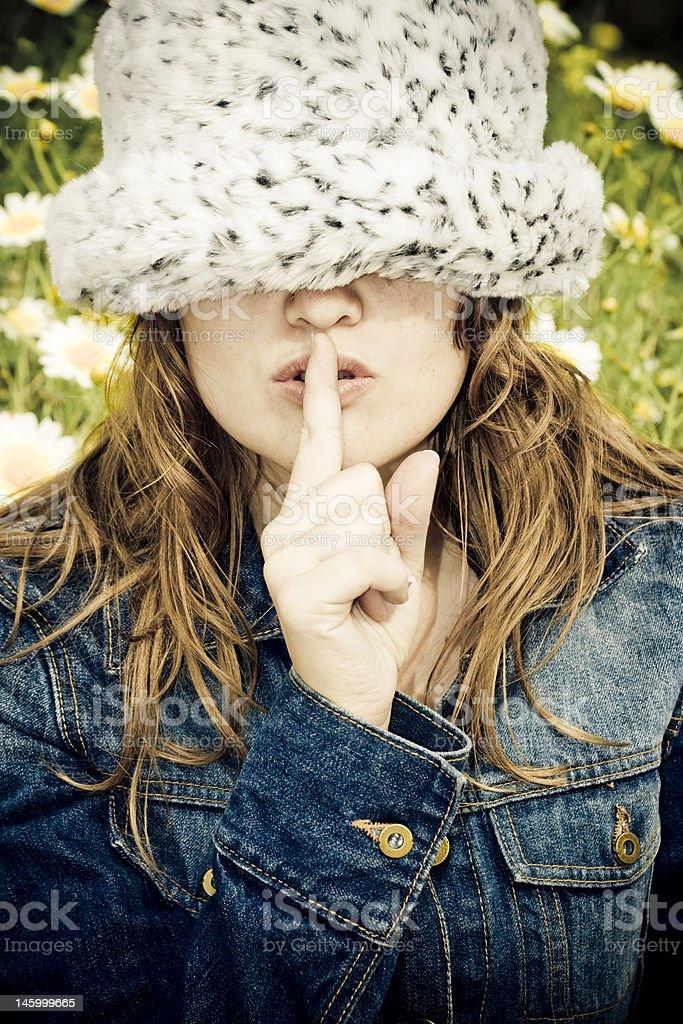 Shhh royalty-free stock photo