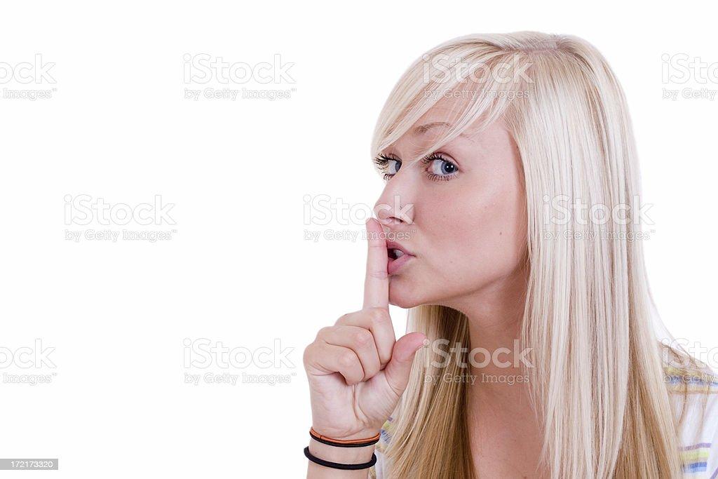 Shhh.... royalty-free stock photo