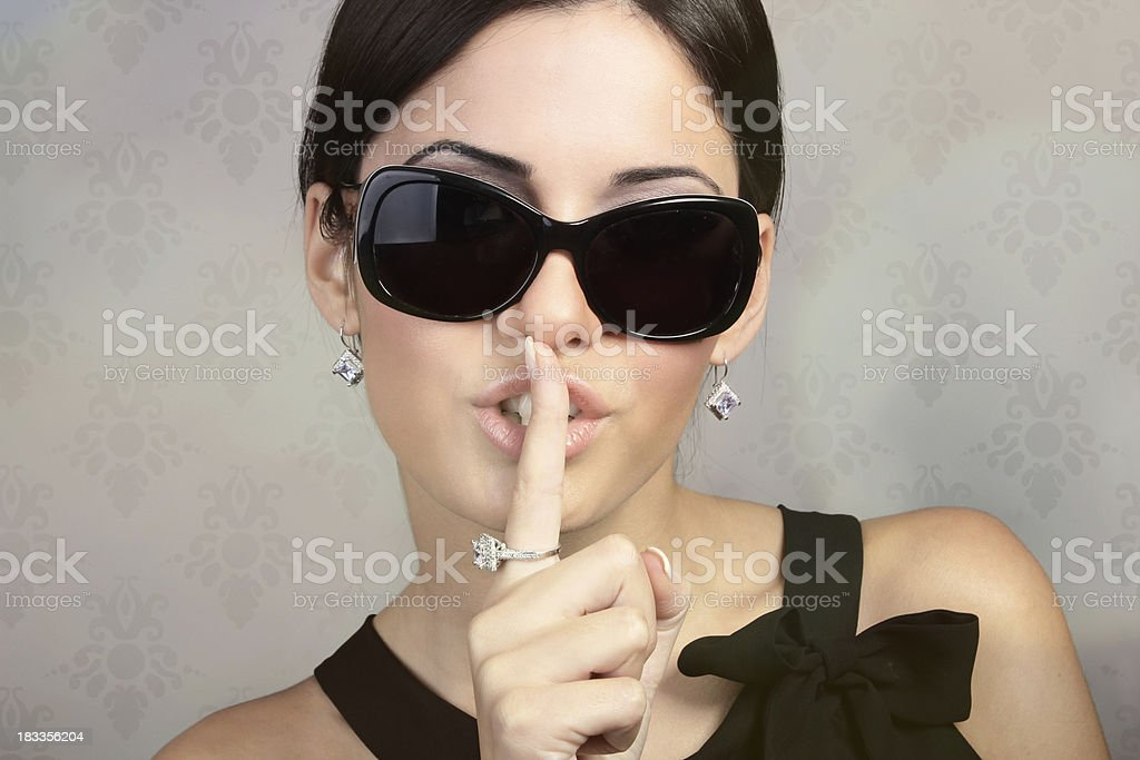 Shhh... royalty-free stock photo