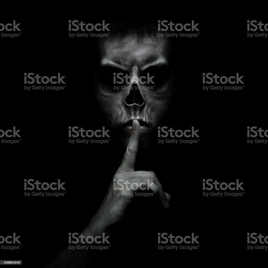 Shhh stock photo