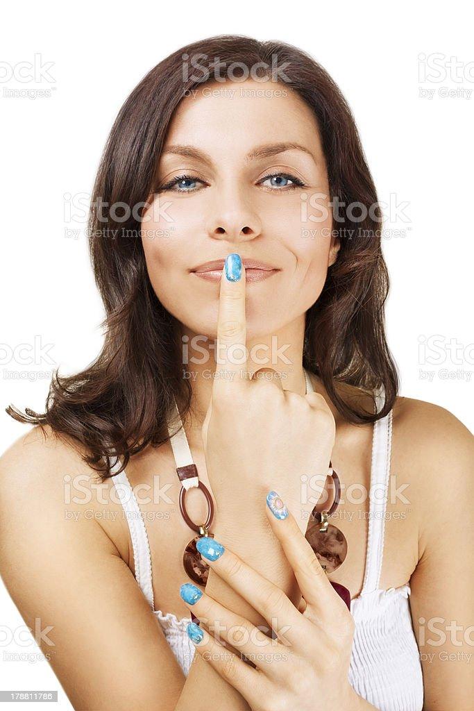 Shhh! Secret beauty method / Private summer sale. royalty-free stock photo