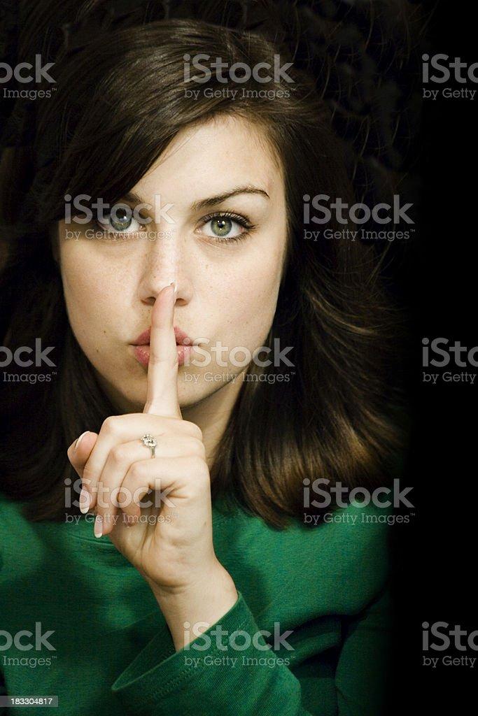 shhhh royalty-free stock photo