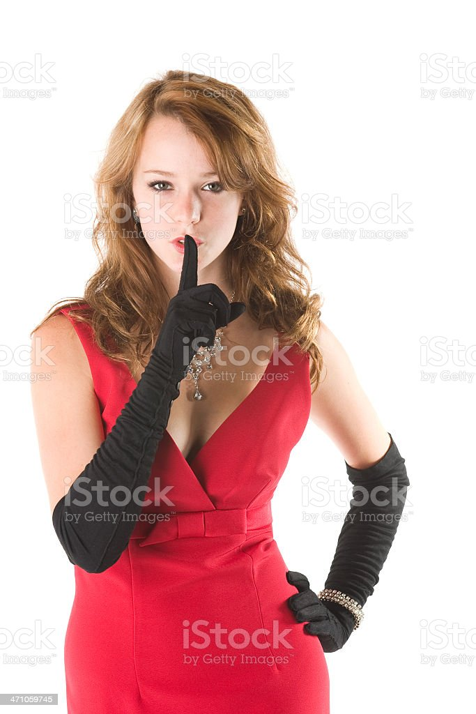 Shhhh royalty-free stock photo