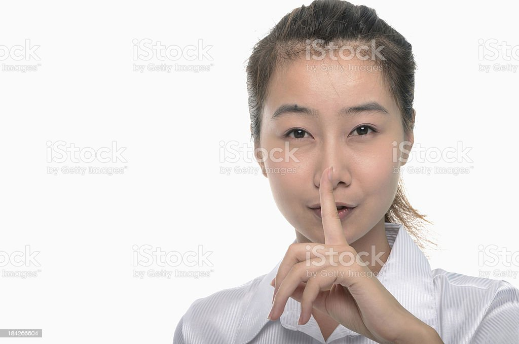Shhhh! Quiet Please! stock photo
