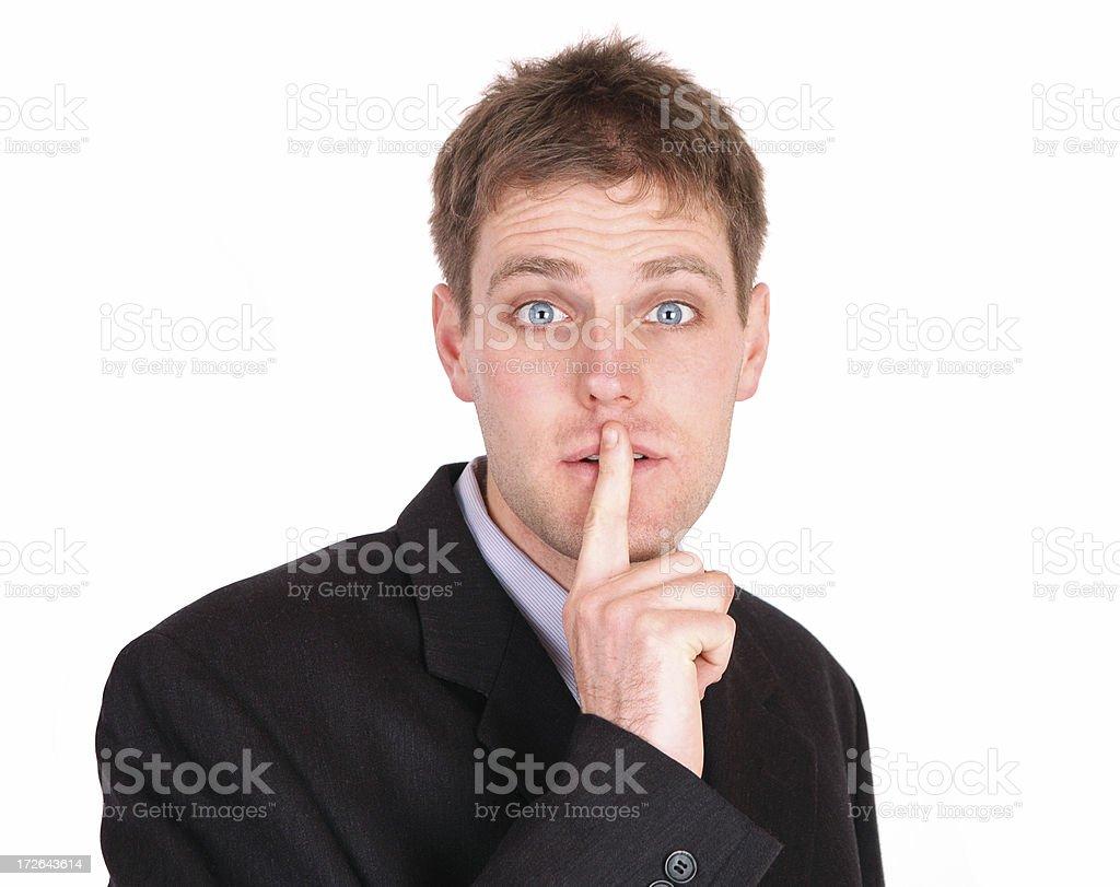 Shhhhh! stock photo