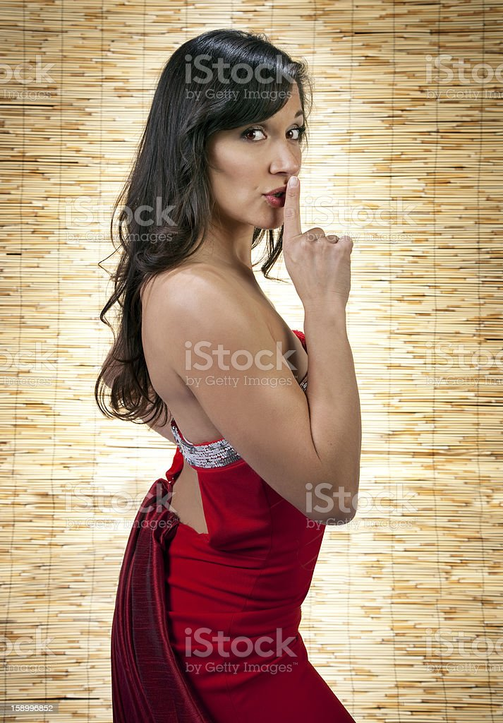 Shhhhhh Be Quite royalty-free stock photo