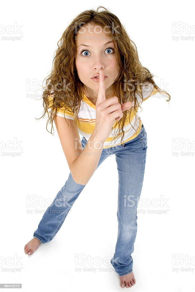 Shhhhhh royalty-free stock photo