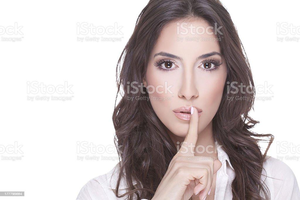 Shhh…silence. stock photo