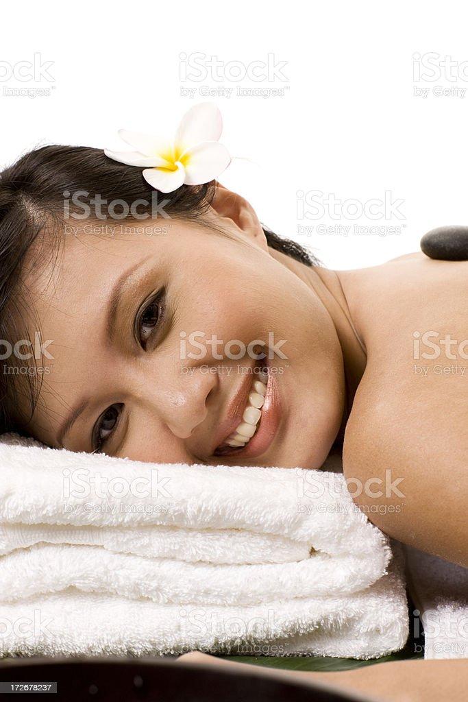 Shiatsu - hot stone massage royalty-free stock photo