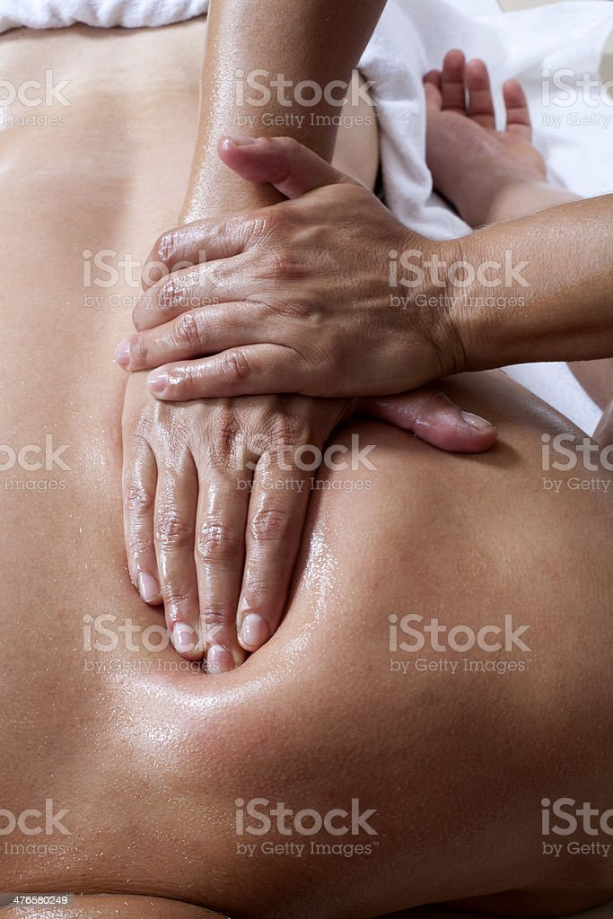 Shiatsu Massage stock photo