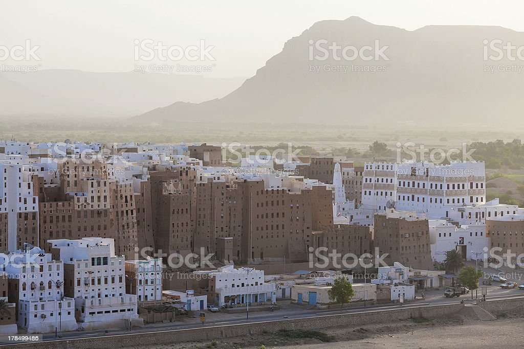 Shibam city, Yemen royalty-free stock photo