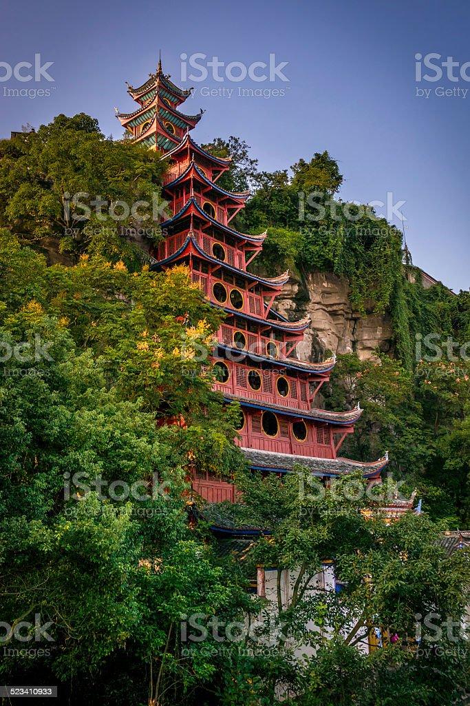 Shibaozhai pagoda stock photo