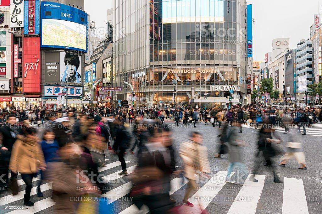 Shibuya Crossing In Tokyo, Japan stock photo