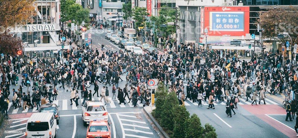 Shibuya Crossing stock photo