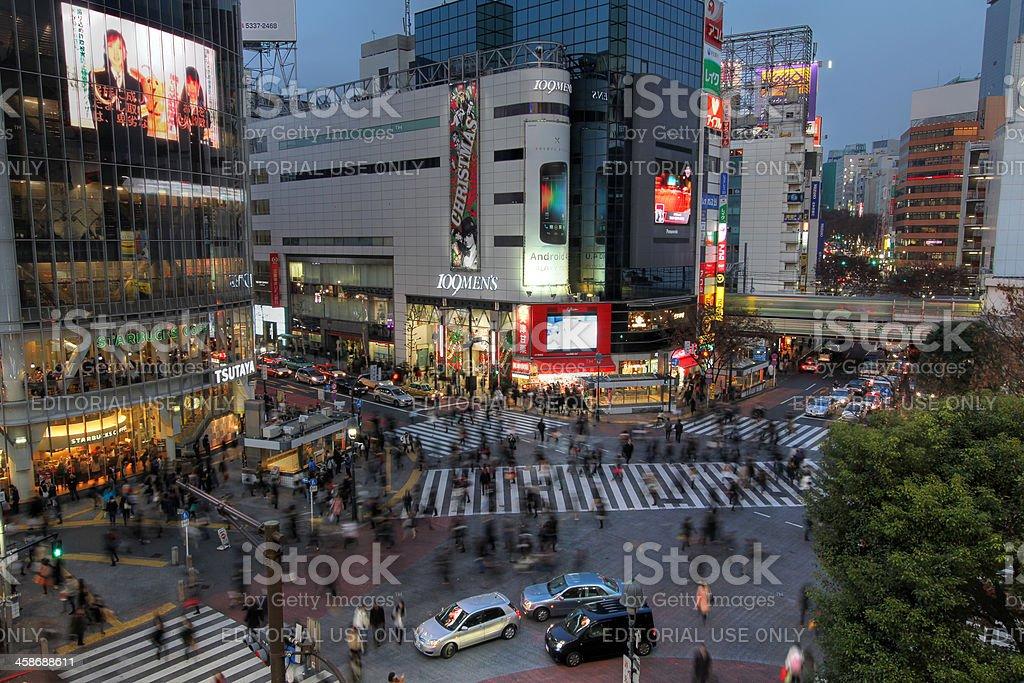 Shibuya crossing, Tokyo, Japan stock photo