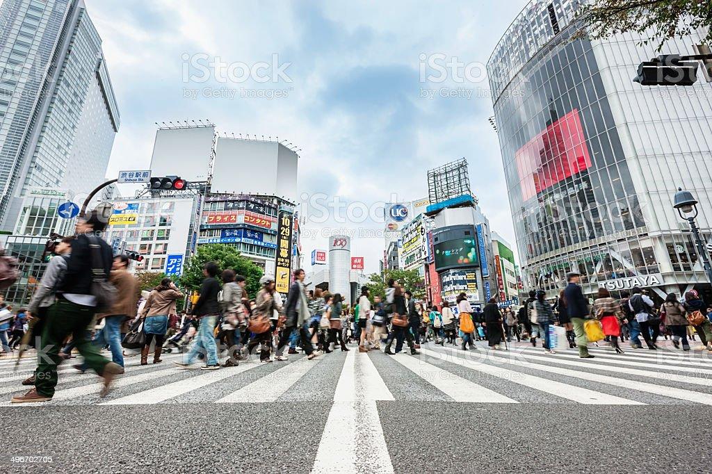 Shibuya Crossing Tokyo Japan stock photo