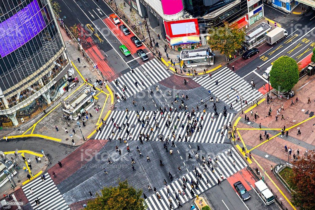Shibuya Crossing, Tokyo, Japan. stock photo