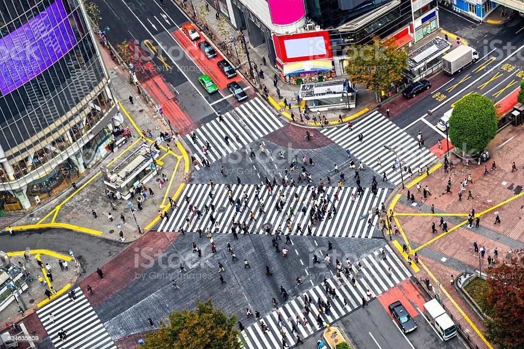 Shibuya-Kreuzung, Tokio, Japan. – Foto
