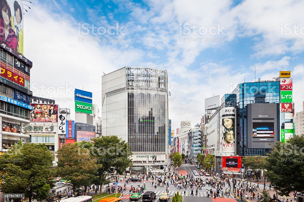 Shibuya Crossroad in Tokyo, Japan stock photo