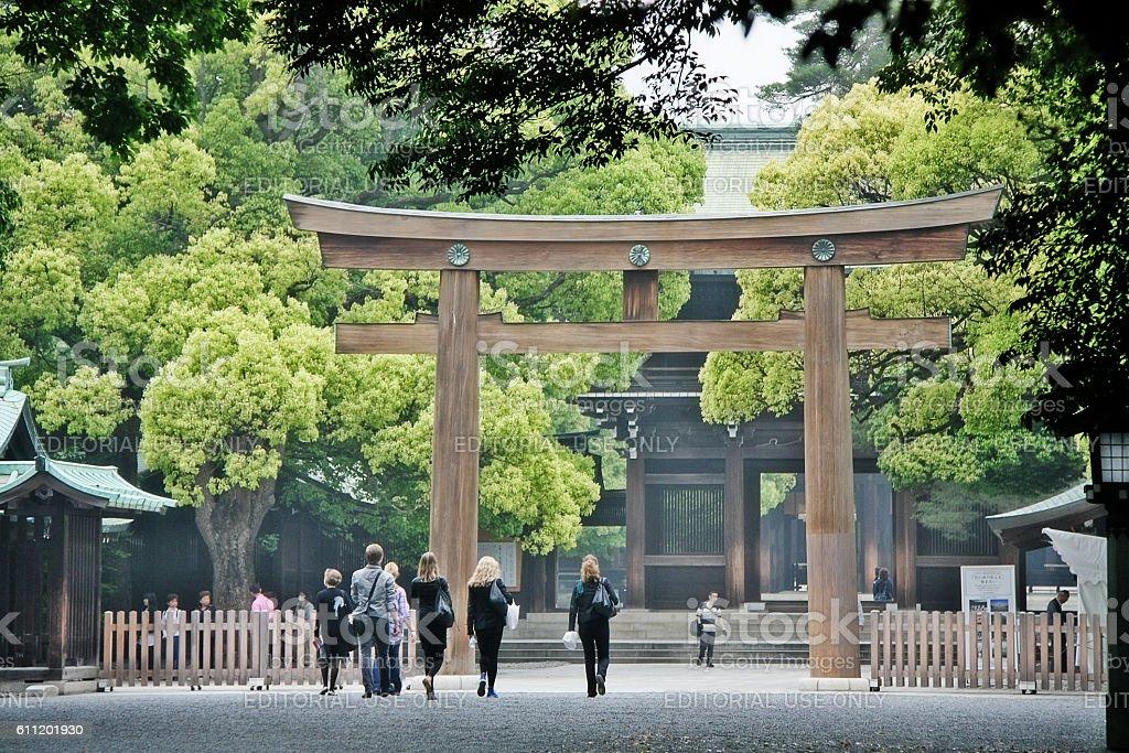 Shibuya, Tokyo, Japan - May 12, 2009 - Meiji Shrine stock photo