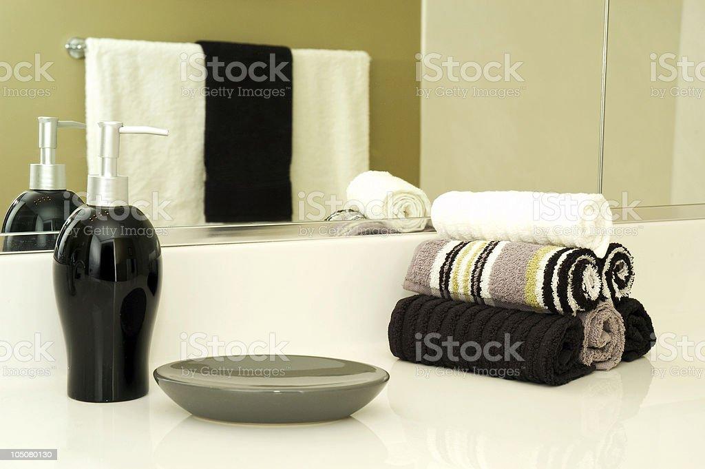 Shiek and Modern Bathroom Ammeneties royalty-free stock photo