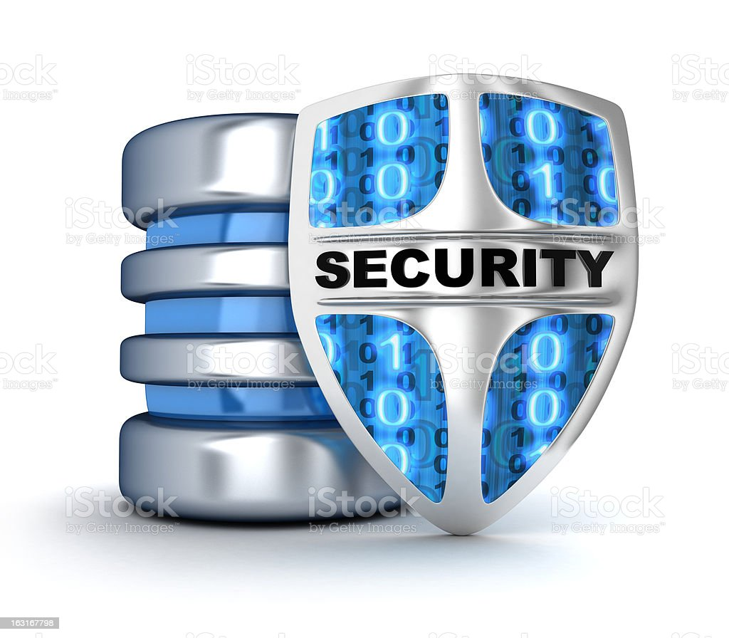 Shield and database royalty-free stock photo