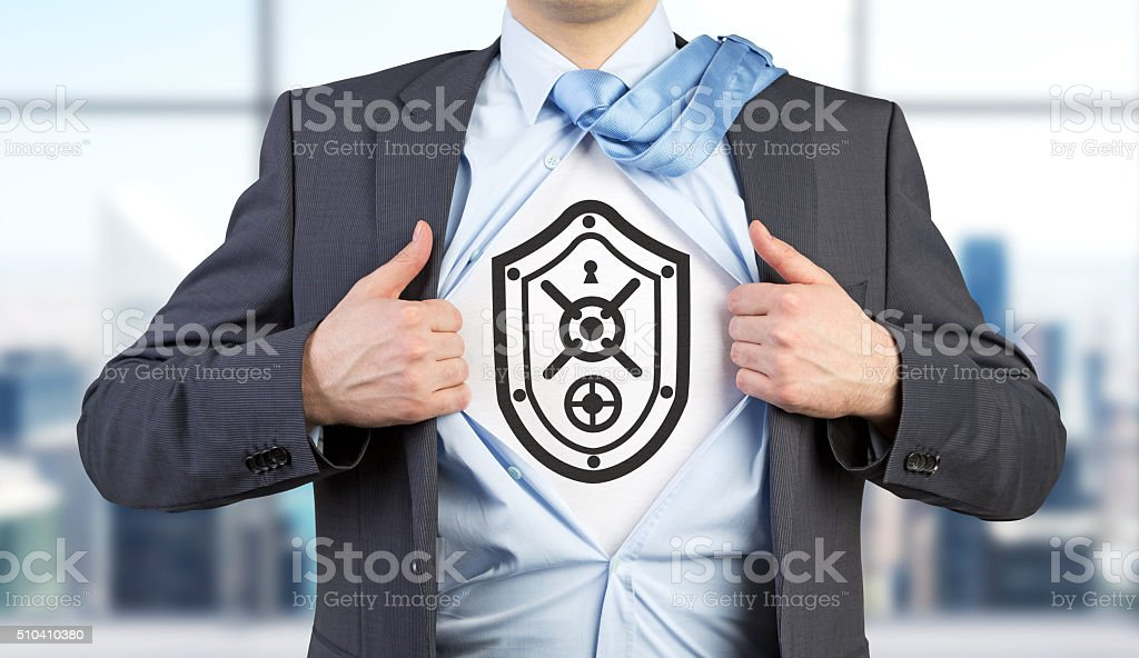 Shield and protection stock photo