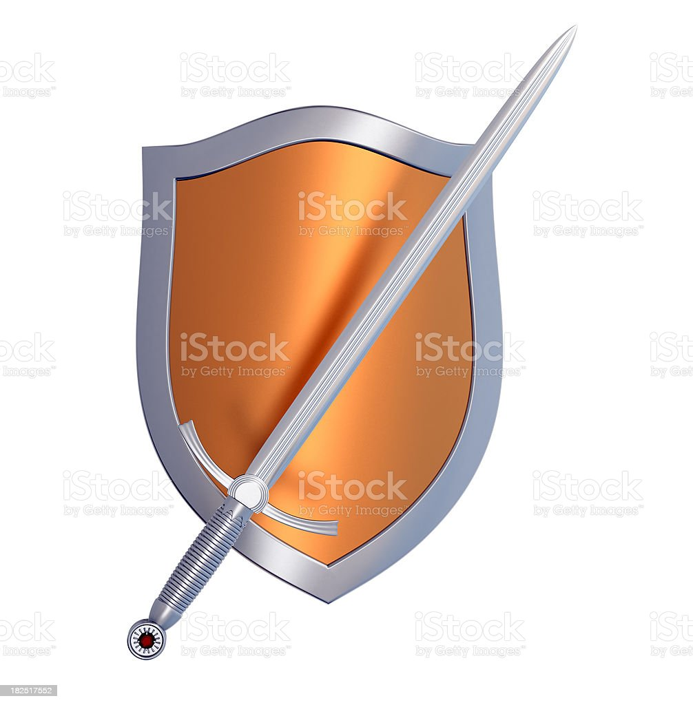 Shield and Sword royalty-free stock photo