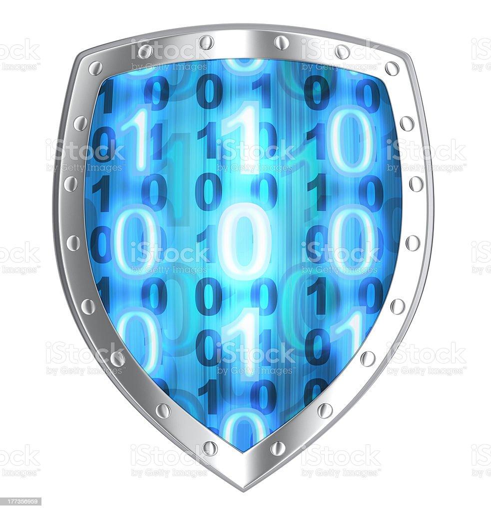 Shield antivirus royalty-free stock photo