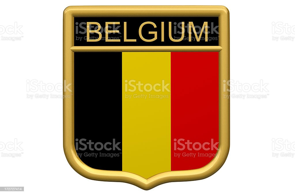 Shield Patch - Belgium stock photo