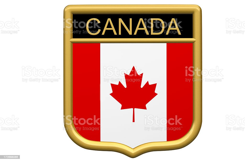 Shield Patch - Canada royalty-free stock photo