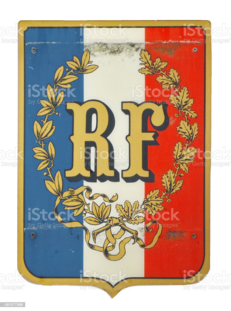 Shield patch - France isolated stock photo