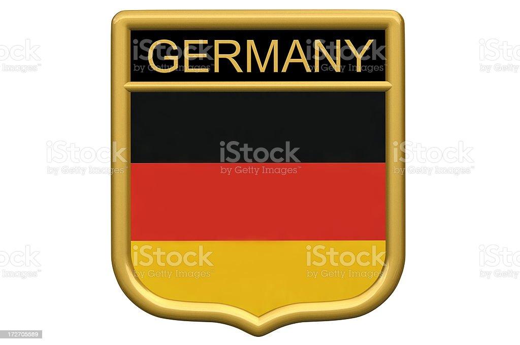 Shield Patch - Germany royalty-free stock photo