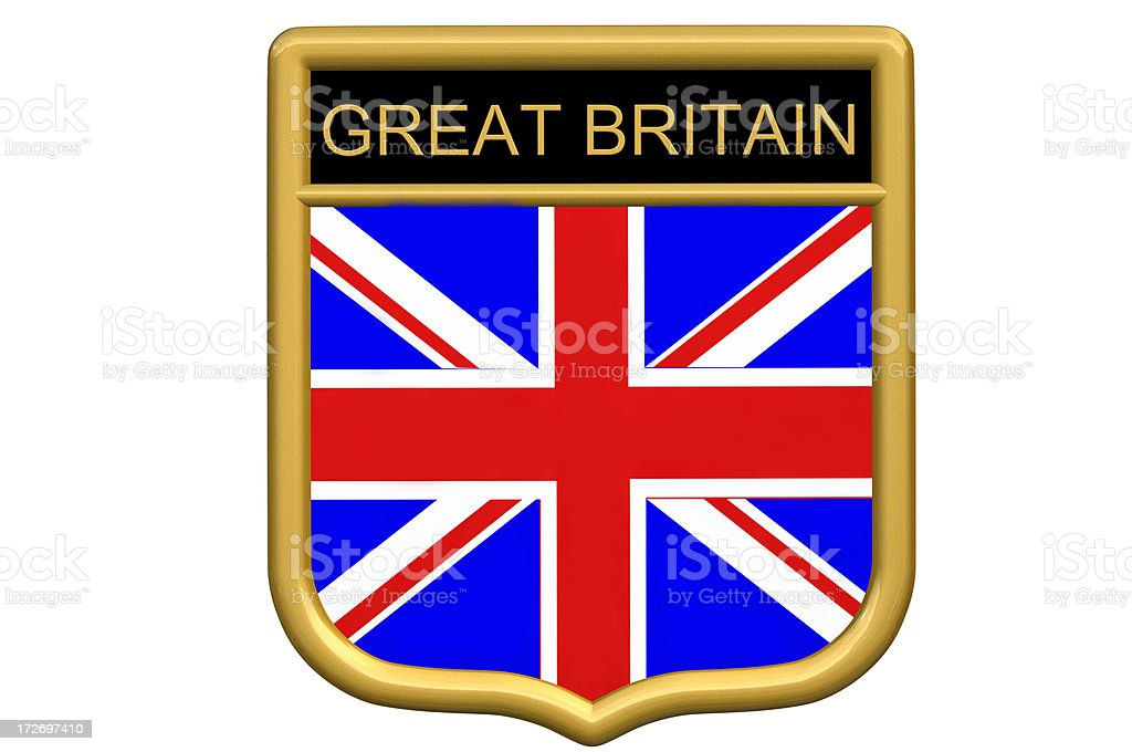 Shield patch - Great Britain royalty-free stock photo