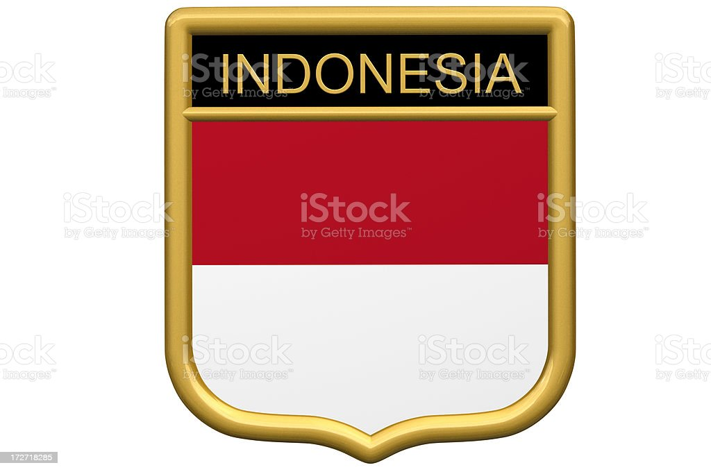 Shield Patch - Indonesia stock photo
