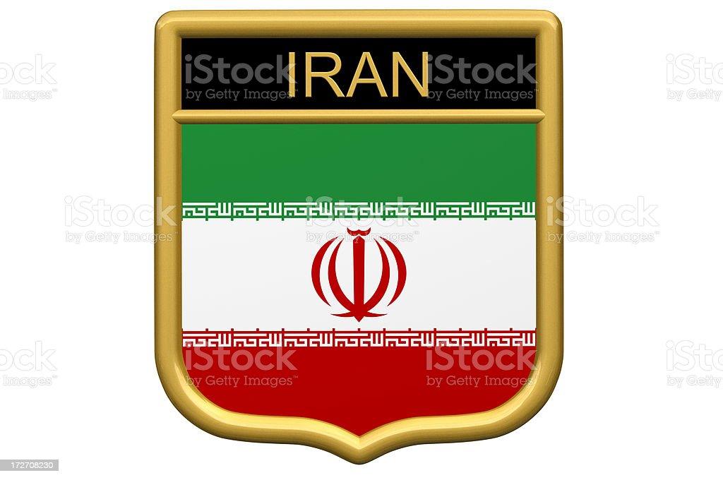 Shield Patch - Iran royalty-free stock photo