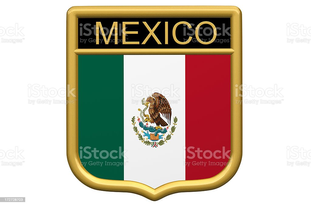 Shield Patch - Mexico royalty-free stock photo