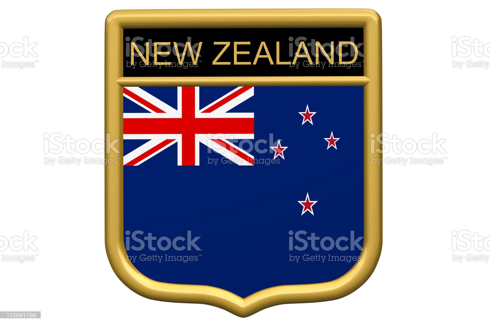 Shield Patch - New Zealand royalty-free stock photo