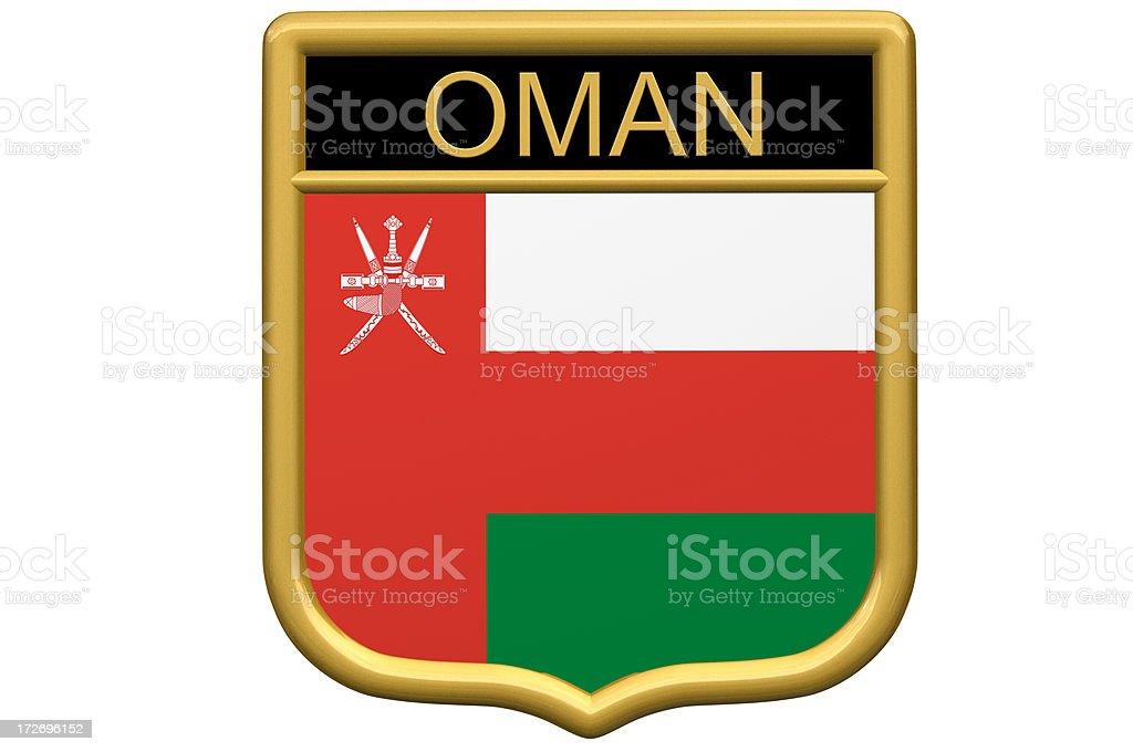 Shield Patch - Oman stock photo