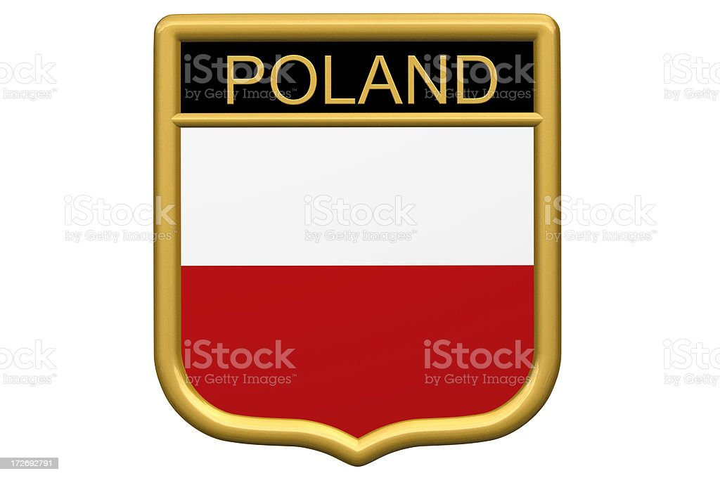 Shield Patch - Poland royalty-free stock photo
