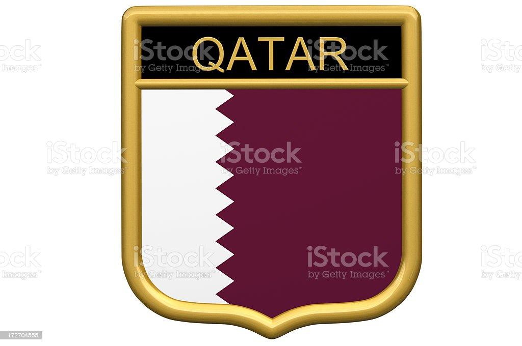 Shield Patch - Qatar stock photo