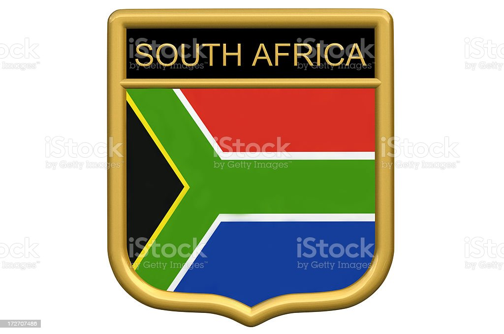Shield Patch - South Africa royalty-free stock photo
