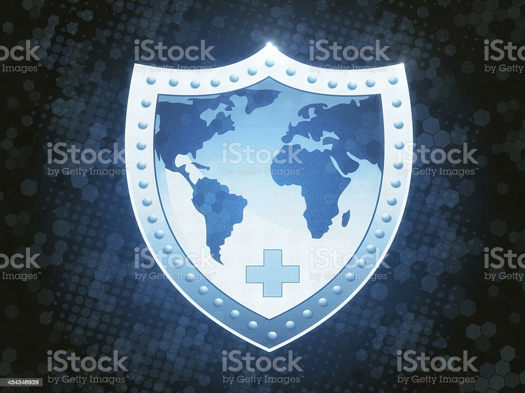 Shield Protection stock photo