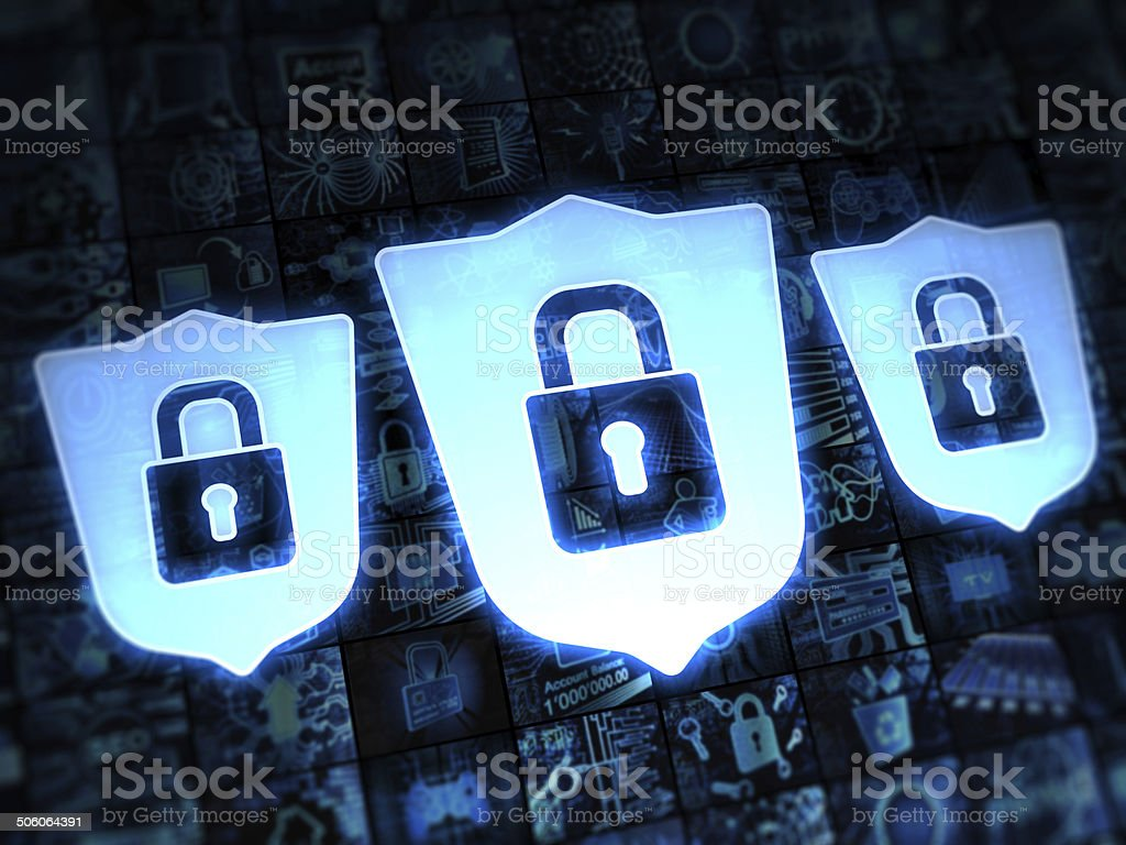 Shield secure stock photo