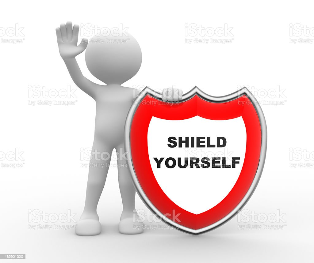 Shield yourself stock photo