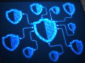 Shields Secure on digital screen