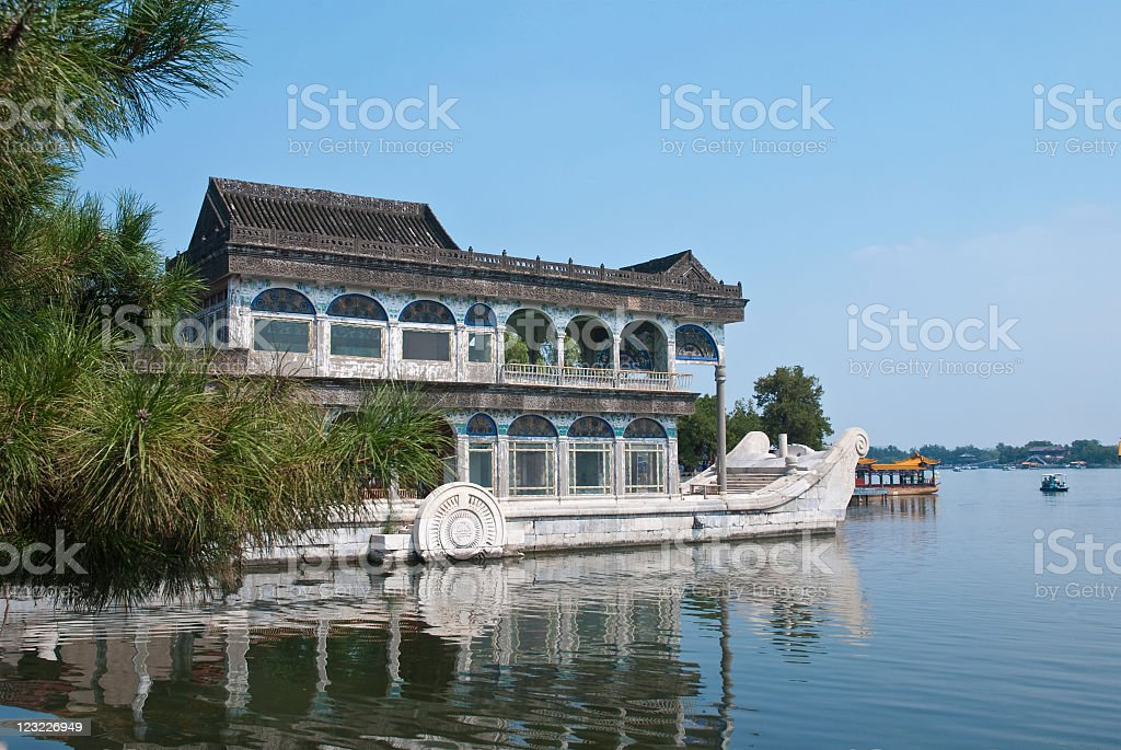 Shifang(stone ship) in Summer Palace stock photo