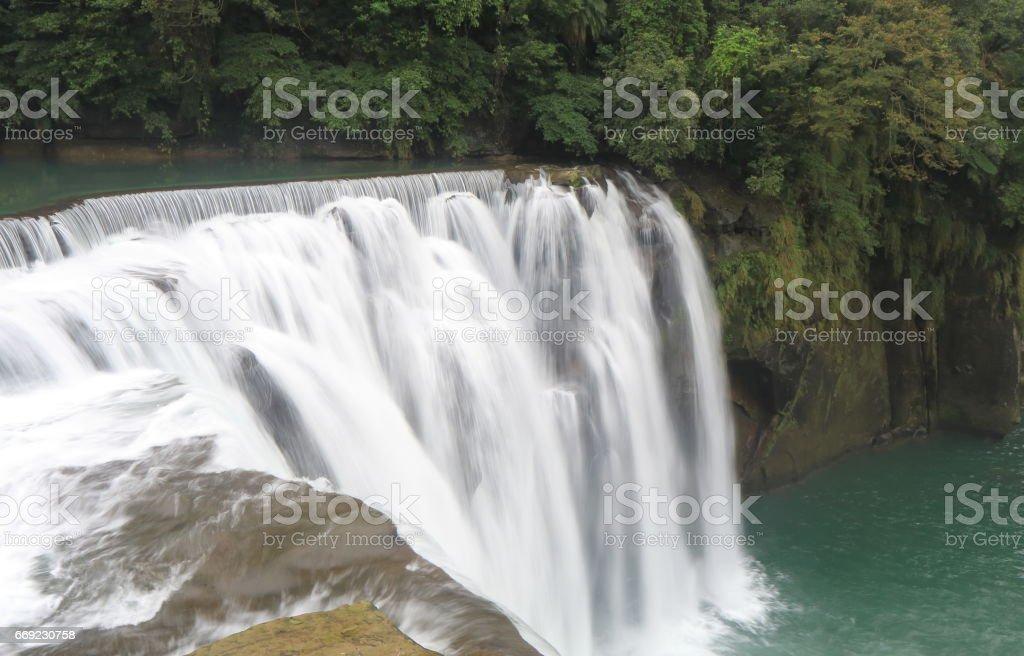 Shifen waterfall Scenic Area Taipei Taiwan stock photo