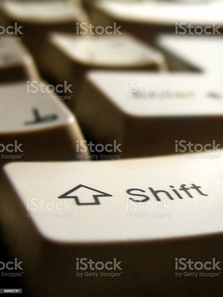 Shift my life stock photo