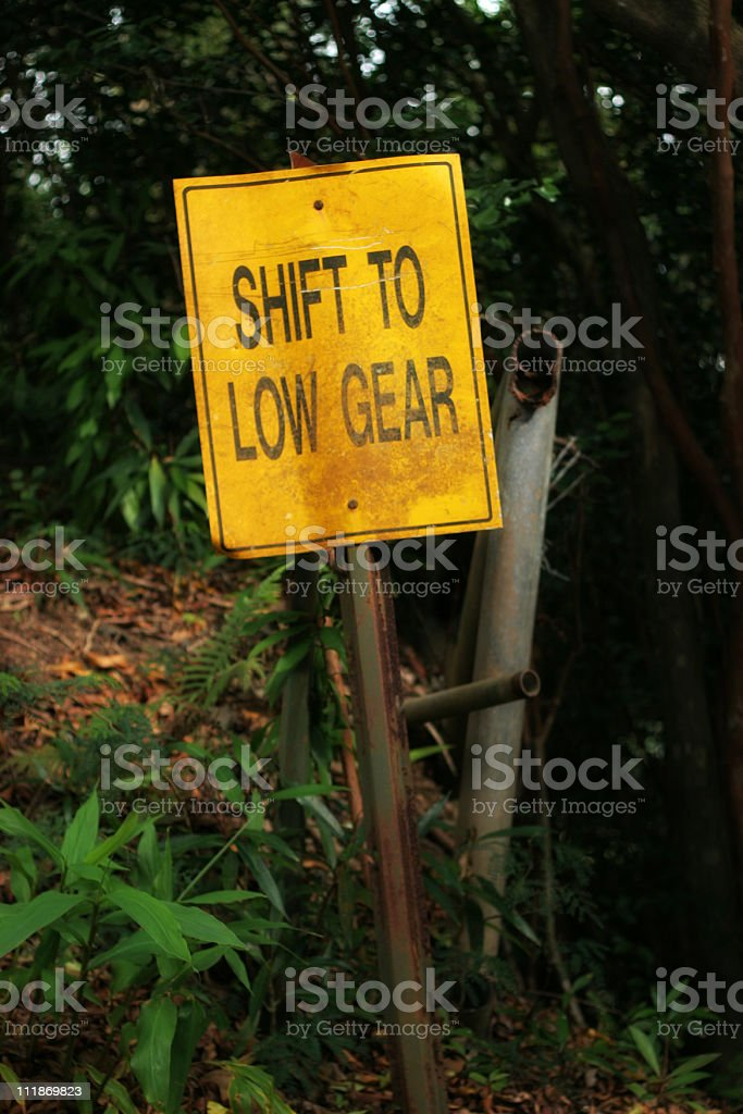 Shift to Low Gear royalty-free stock photo